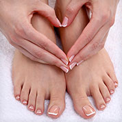 hand and foot care decor image