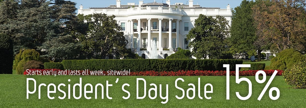President's Day Sale: 15% sitewide
