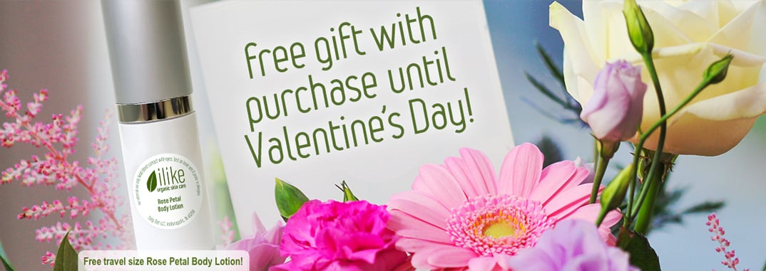 Free gift with purchase until Valentine's Day!