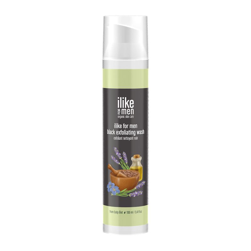 ilike for men Black Exfoliating Wash 125 ml / 4.2 fl oz